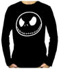 Negative Jack Skellington Face Long Sleeve T-Shirt Nightmare Before Christmas Clothing