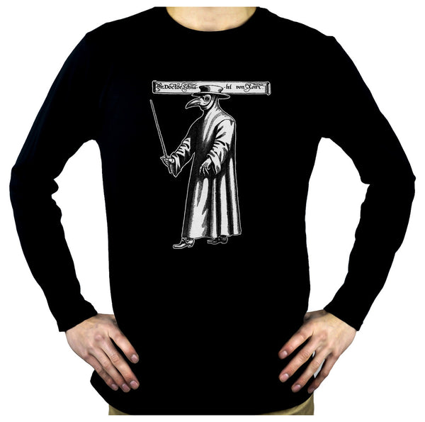 Death Plague Doctor with Bird Mask Long Sleeve Shirt Alternative Clothing