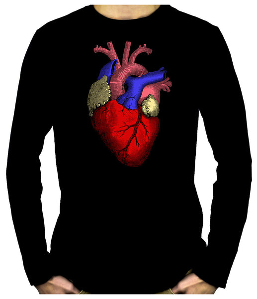 Anatomical Human Heart Long Sleeve Shirt Alternative Medical Clothing