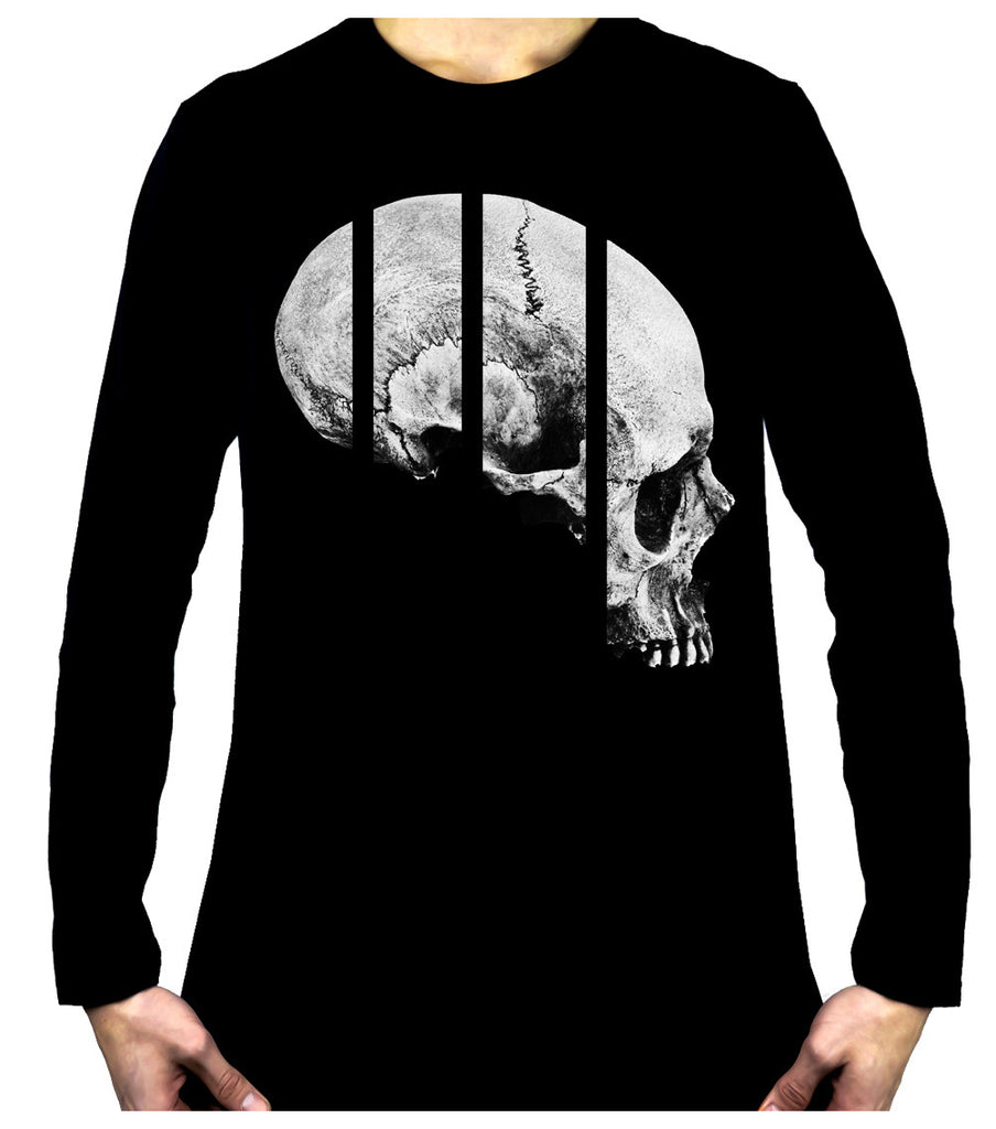 Medical Oddities Human Skull Men's Long Sleeve T-Shirt Occult Clothing