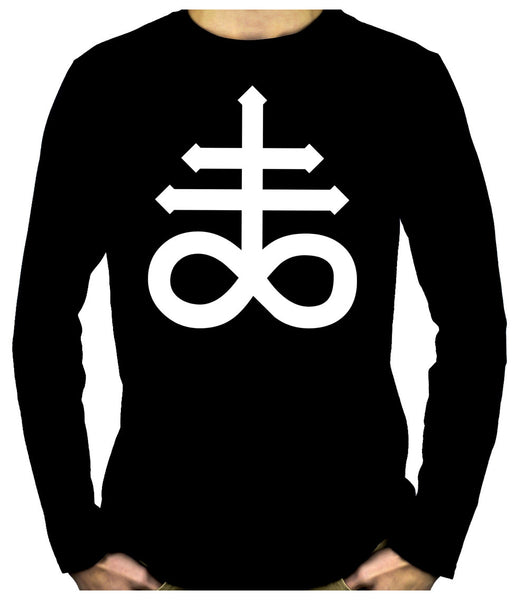 Crux Satanus Leviathan Cross Long Sleeve Shirt Occult Clothing Black Sulphur