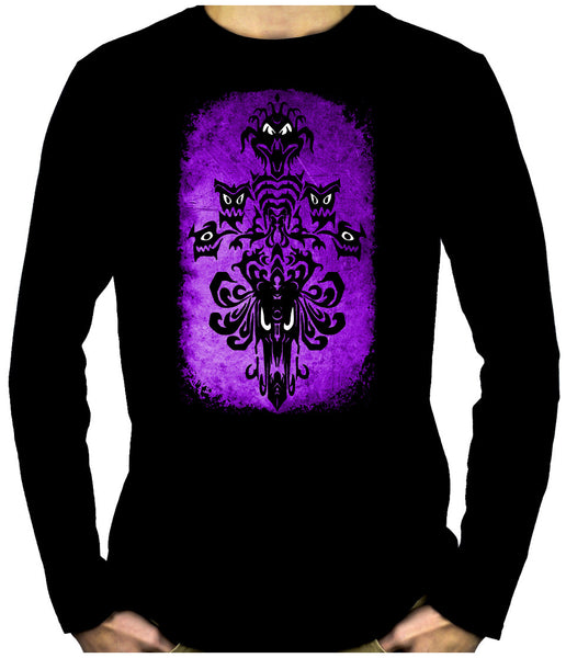 Haunted Mansion Wallpaper Ghoul Long Sleeve T-Shirt Gothic Alternative Clothing