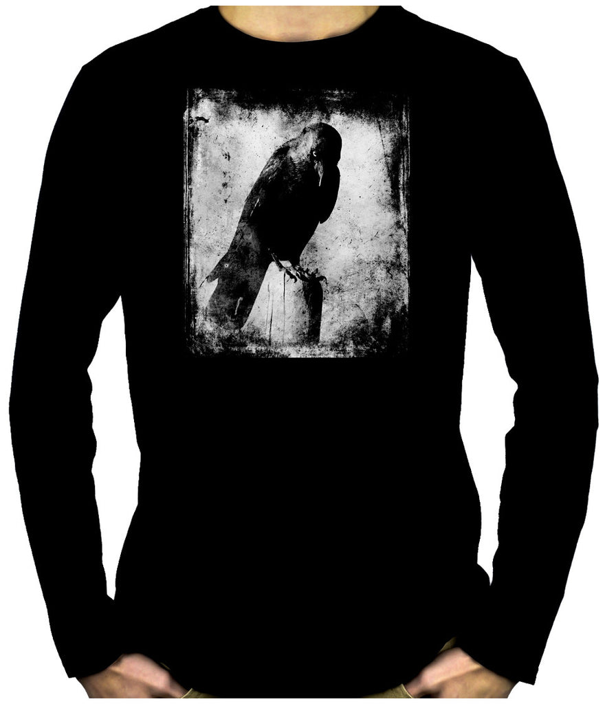 Evil Eye Raven Men's Long Sleeve T-Shirt Gothic Alternative Clothing The Crow