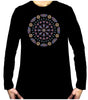 Geometric Gothic Stained Glass Window Men's Long Sleeve T-Shirt Alternative Clothing