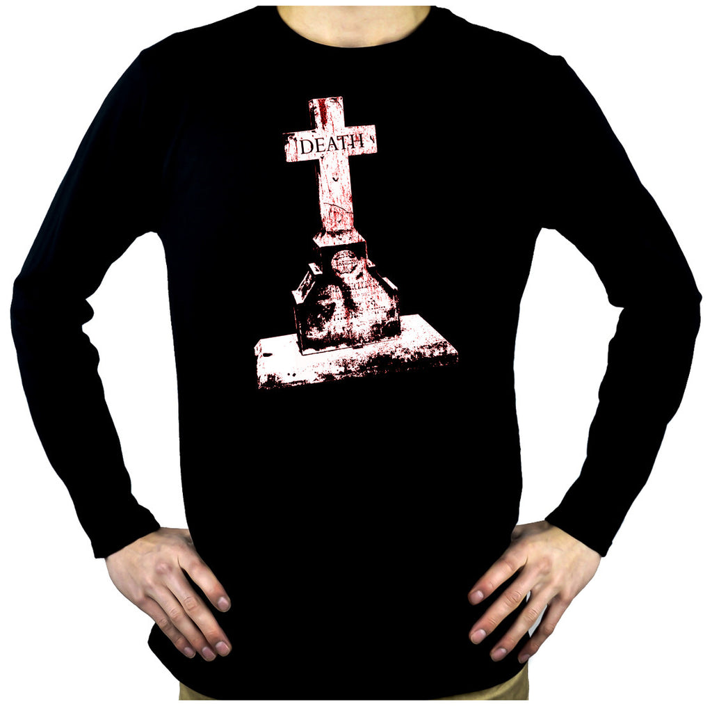 Tombstone of Death Cemetery Men's Long Sleeve T-Shirt Alternative Clothing Gothic