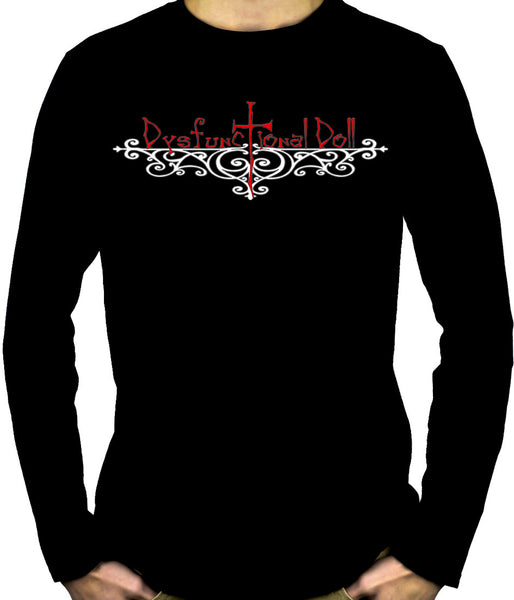 Dysfunctional Doll Wrought Iron Logo Long Sleeve Shirt Gothic Clothing