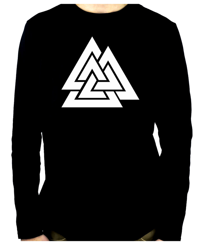 Norse Triangle Knot Men's Long Sleeve T-Shirt The Valknut Odin's Slain Warriors