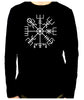 Vegvisir Viking Compass Symbol Men's Long Sleeve T-Shirt Viking Old Norse