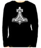 Mjolnir Thor's Hammer Men's Long Sleeve T-Shirt Norse Viking God