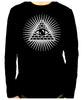 Pyramid w/ All Seeing Eye Men's Long Sleeve T-Shirt