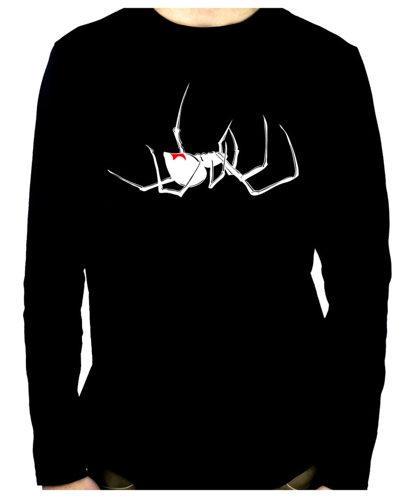 Black Widow Spider Men's Long Sleeve T-Shirt Gothic Clothing