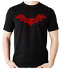 Wrought Iron Red Vampire Bat Men's T-Shirt Gothic Vampire Clothing