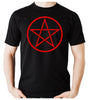 Red Woven Pentacle Men's T-Shirt Occult Clothing