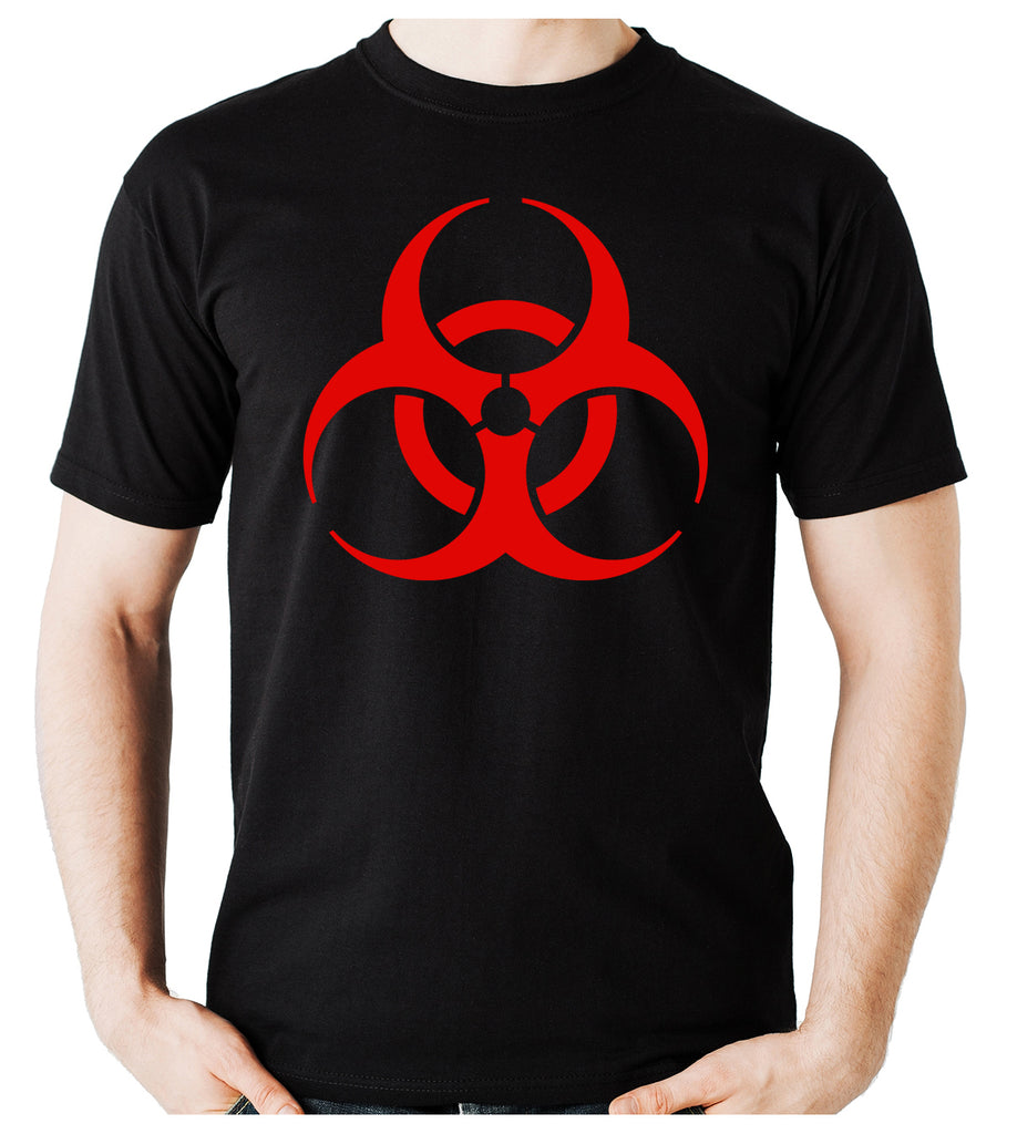 Red Bio-Hazard Radiation Men's T-Shirt Cyber Goth Clothing