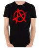 Red Anarchy Punk Rock Men's T-Shirt Gothic Clothing