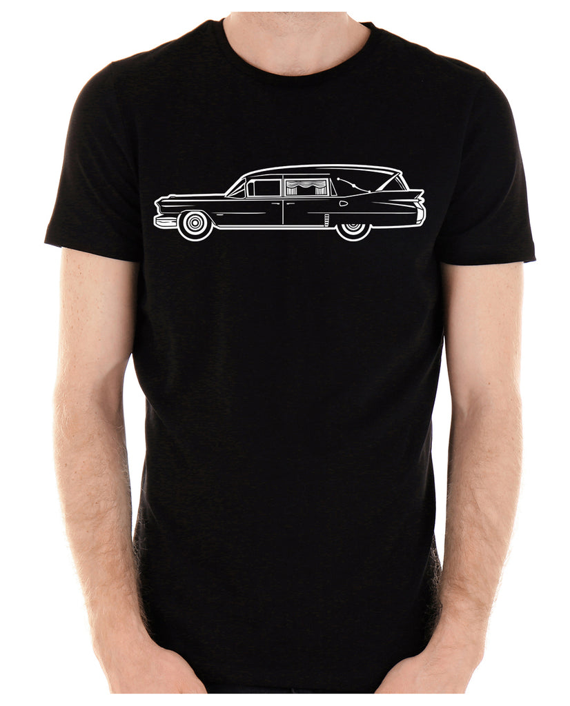 Hearse Funeral Car Men's T-Shirt Gothic Clothing