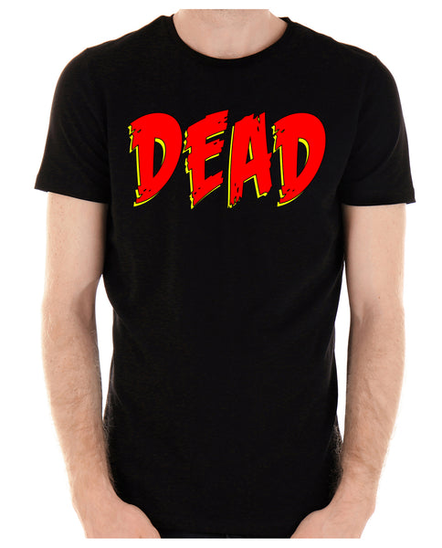DEAD Blood Red Horror Style Men's T-Shirt Occult Clothing