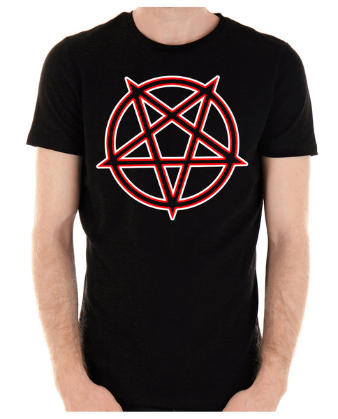 Unholy Inverted Ritual Pentagram Symbol Men's T-Shirt Occult Clothing