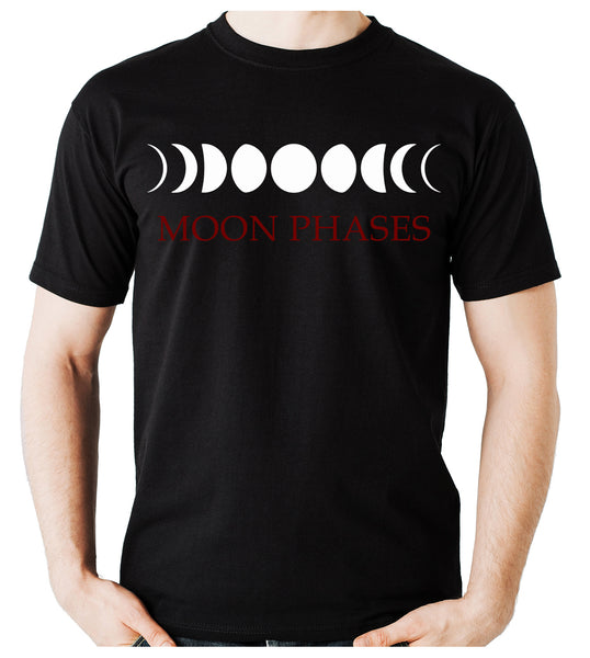 Moon Phases Lunar Cycles Men's T-Shirt Occult Witch Clothing