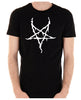White Thorn Jagged Inverted Pentagram Men's T-Shirt Occult Clothing