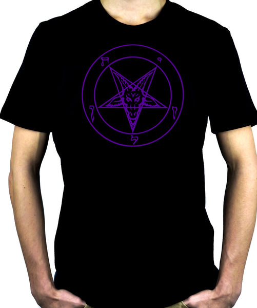 Purple Pentagram Sabbatic Baphomet T-Shirt Occult Clothing