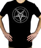 White Pentagram Sabbatic Baphomet T-Shirt Occult Clothing