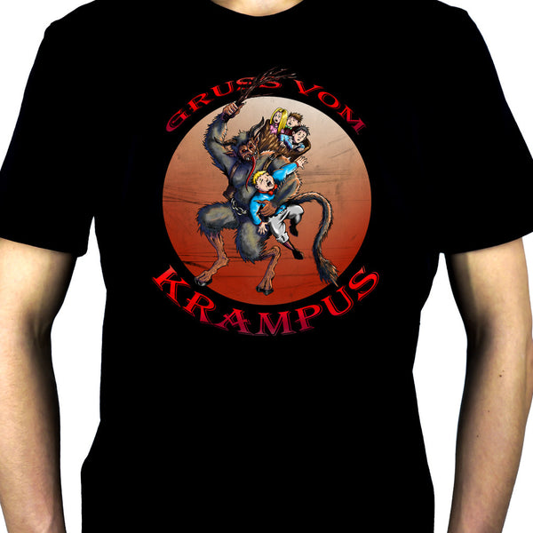 Gruss Vom Krampus Men's T-Shirt Gothic Christmas Occult