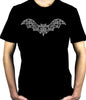 Wrought Iron Grey Vampire Bat Men's T-Shirt Gothic Vampire Clothing