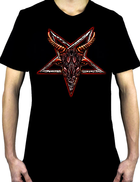 Sigil of Baphomet Sabbatic Goat Head Men's T-Shirt Occult Clothing