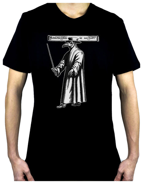 Death Plague Doctor with Bird Mask Men's T-Shirt Alternative Clothing