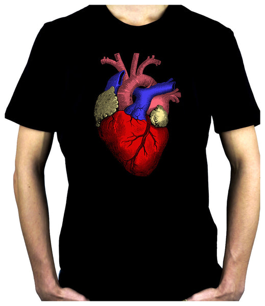 Anatomical Human Heart Men's T-Shirt Alternative Medical Clothing