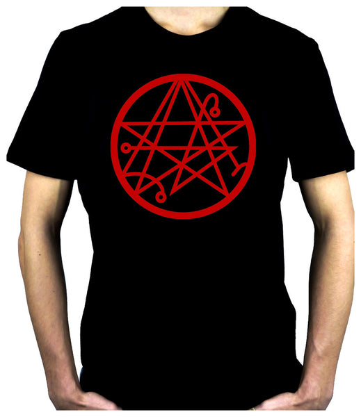 Necronomicon Gate Alchemy Symbol Men's T-Shirt Occult Clothing HP Lovecraft