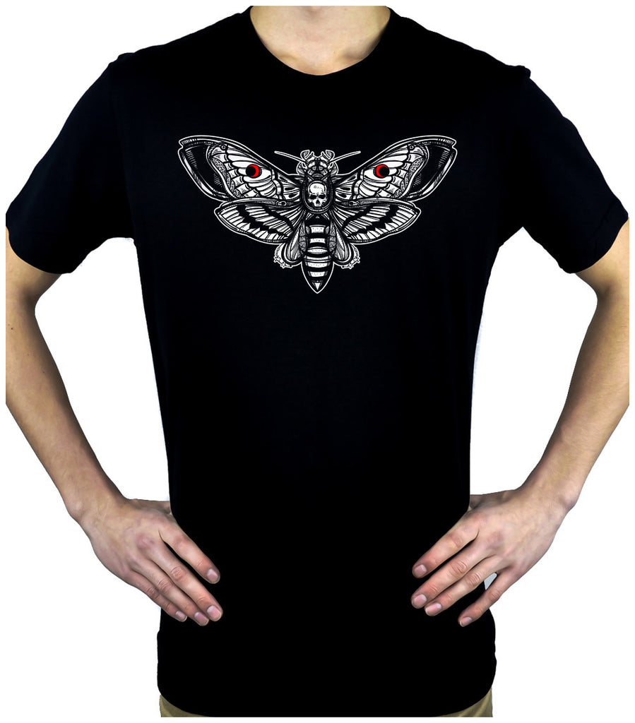 Moth with Death Skull Men's T-Shirt Alternative Clothing Gothic Deathrock