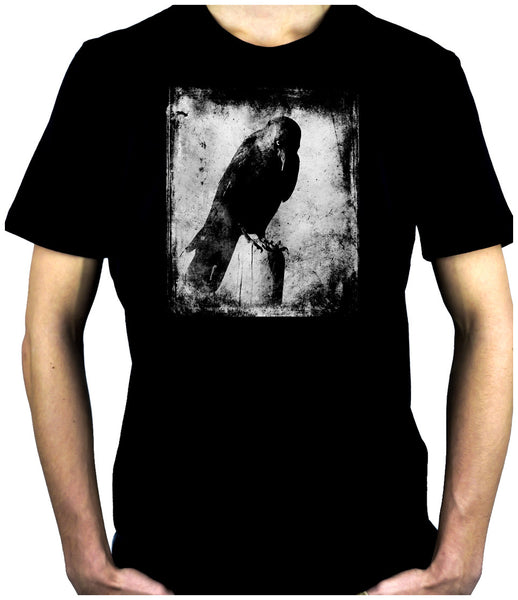 Evil Eye Raven Men's T-Shirt Alternative Clothing Black Crow Gothic Deathrock
