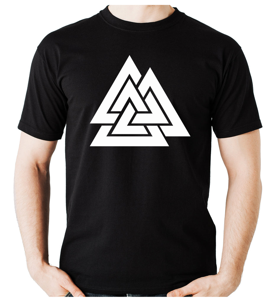 Norse Triangle Knot Men's T-Shirt The Valknut Odin's Slain Warriors
