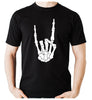 Skeleton Hand Horns Up Metal Men's T-Shirt Gothic Alternative Clothing