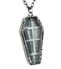 Antique Silver Finish Catacomb Coffin Necklace Gothic Jewelry