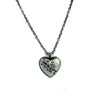 Silver Stitch Heart Necklace Broken Eternal Love Gift Pendant