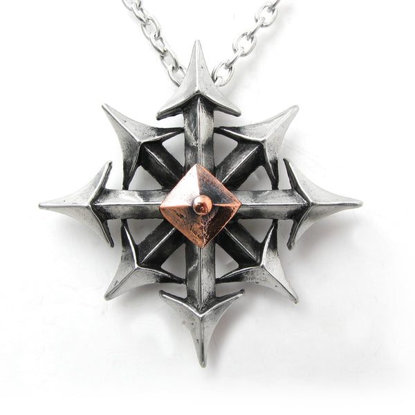 Alchemy Gothic Chaostar Pendant Necklace 8 Point Star