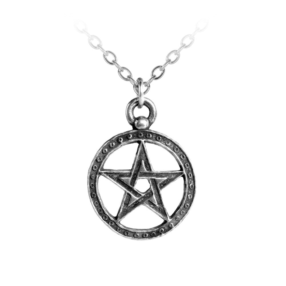 Alchemy Gothic Dante's Hex Woven Pentagram Pendant Necklace