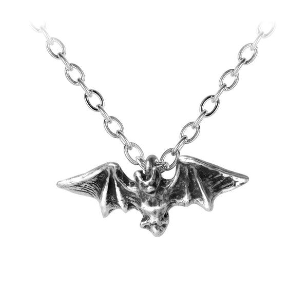 Alchemy Gothic Kiss of the Night Bat Pendant Necklace