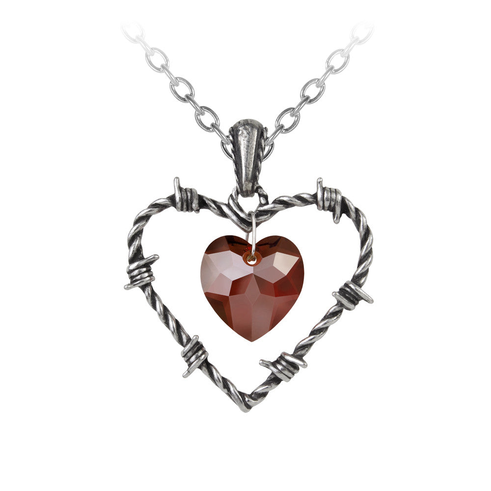 Alchemy Gothic Love Imprisoned Barbwire Pendant Necklace