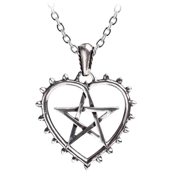 Alchemy Gothic Cunning Heart & Woven Star Pendant Necklace