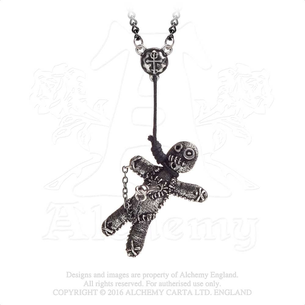 Alchemy Gothic Voo Doo Doll Necklace WbEKCrIzde