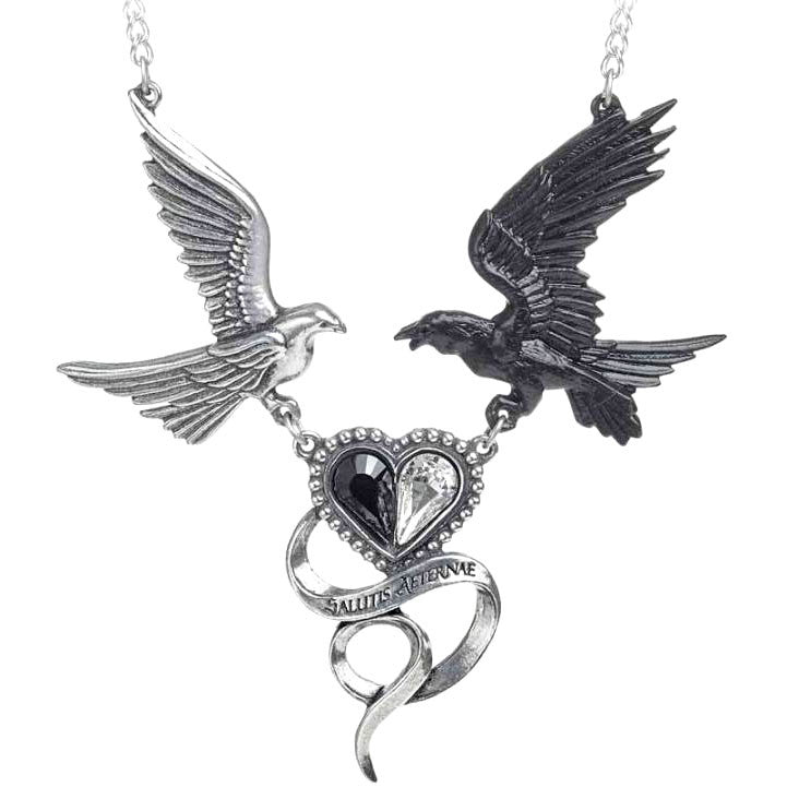 Alchemy Gothic Epiphany of St. Corvus Pendant Necklace