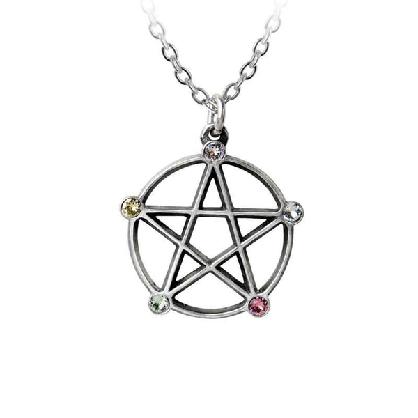 Alchemy Gothic Wiccan Elemental Pentacle Pendant Necklace