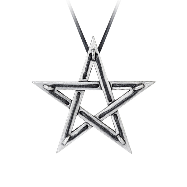 Alchemy Gothic Tethered Hex Pendant Necklace Witch