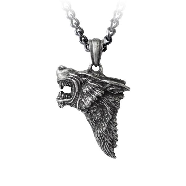 Alchemy Gothic Dark Wolf Pendant Necklace Game of Thrones