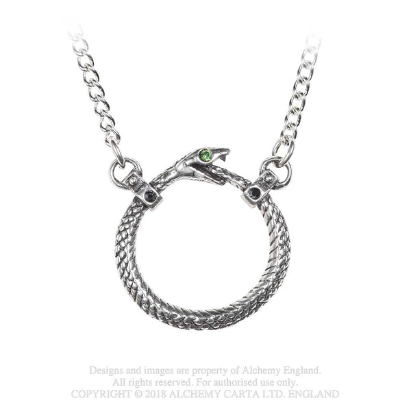 Alchemy Gothic Sophia Serpent Pendant Necklace Snake