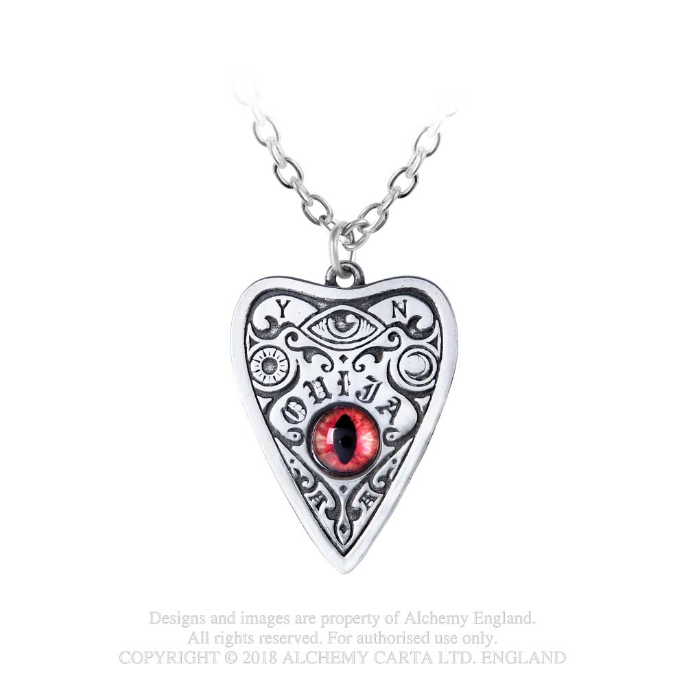 Alchemy Gothic Petit Ouija w/ Red Eye Pendant Necklace